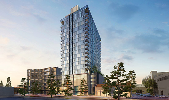 Rendering of 1233 South Grand project