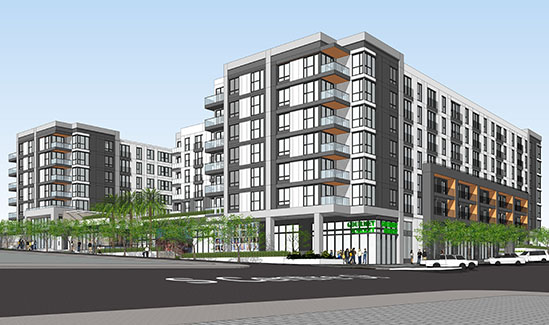 Rendering of 505 South Centre Street Projoect